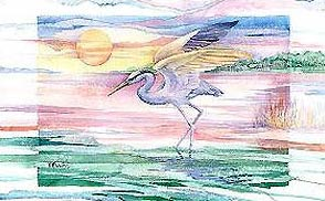 Blue Heron Twilight by Paul Brent