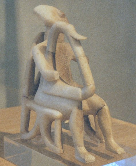The Harp player from Keros, from The National Archeological Museum