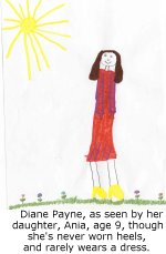 Diane Payne, as seen by her daughter, Ania, age 9.